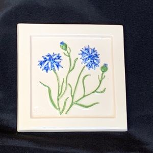 Mid Century Swedish Flowers Tile by Olof Lundquist